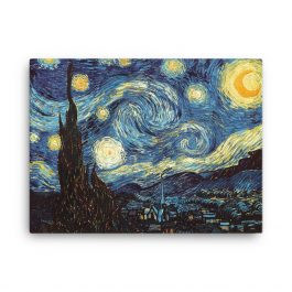 Van Gogh Starry Night High Res Print on Canvas